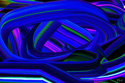 Digital Art - Blue Highway by Phillip Mossbarger