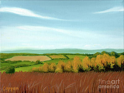 Painting - Blue Hills And Patchwork Fields by Robert Coppen