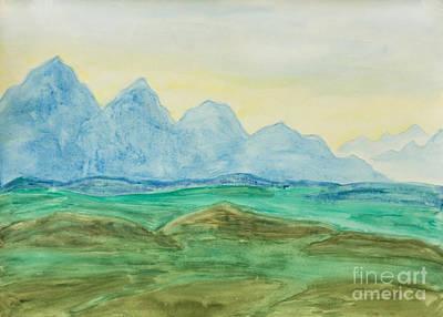 Painting - Blue Hills, Painting by Irina Afonskaya