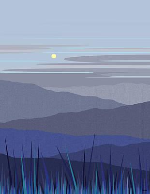 Digital Art - Blue Hills Vertical by Val Arie