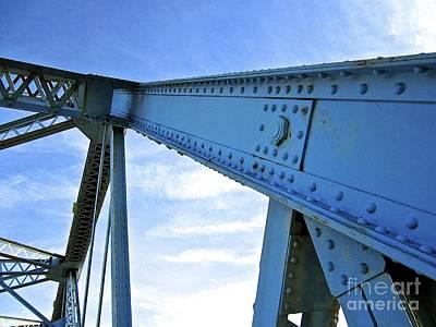 Page Bridge Digital Art - Blue Holdings by Laura Star