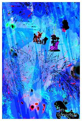 Blue Holiday Art Print by Kathleen Struckle
