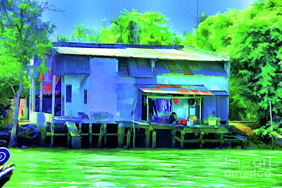 Digital Art - Blue Home by Rick Bragan