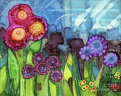 Classical Masterpiece Still Life Paintings - Blue Hoo Hoo Skies by Vicki Baun Barry