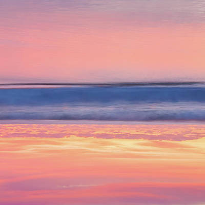 Abstract Beach Landscape Photograph - Apricot Delight by Az Jackson