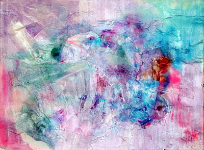 Pearlescent Mixed Media - Blue Horizon  by Don  Wright