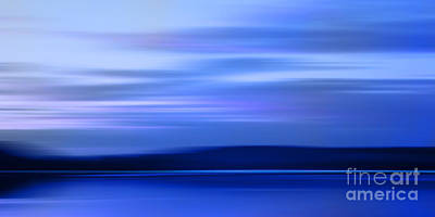 Photograph - Blue Horizon Imagination by Lutz Baar