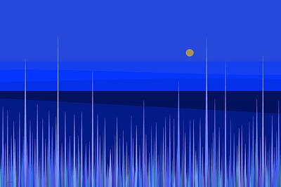 Digital Art - Blue Horizon by Val Arie