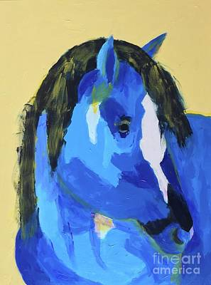 Painting - Blue Horse 2 by Donald J Ryker III