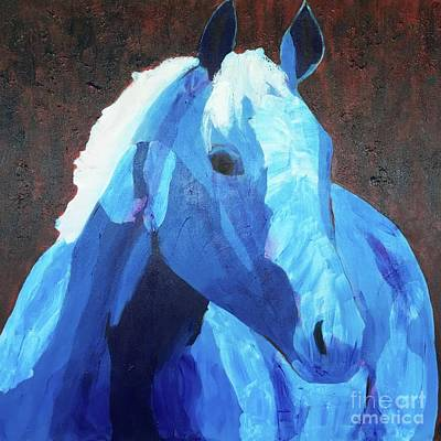 Painting - Blue Horse by Donald J Ryker III