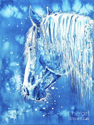 Painting - Blue Horse by Zaira Dzhaubaeva