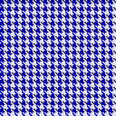 Digital Art - Blue Houndstooth Check by Jane McIlroy