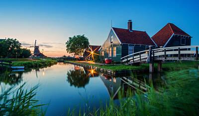 Zaanse Schans Photograph - Blue Hour @ Zaanse Schans by Martin Podt