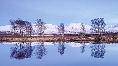 Photograph - Blue Hour And Snow At Loch Ba by Stephen Taylor