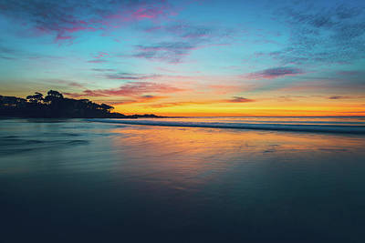 Blue Hour At Carmel, Ca Beach Art Print