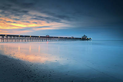 Photograph - Blue Hour At Folly Beach by Kim Carpentier