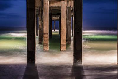 Photograph - Blue Hour At Gulf Shores Alabama Pier  by John McGraw