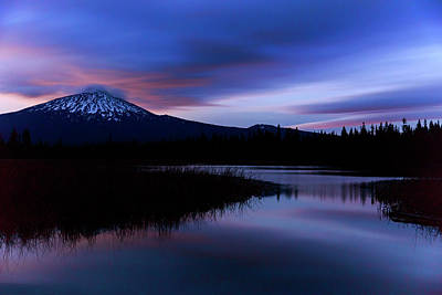 Photograph - Blue Hour At Hosmer Lake by Cat Connor