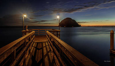 Photograph - Blue Hour At Morro Bay by Tim Bryan