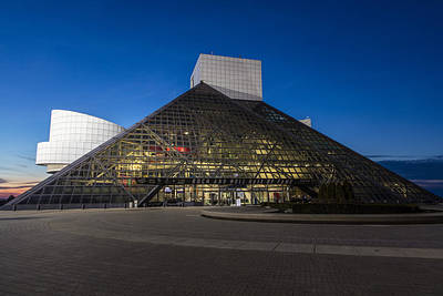 Photograph - Blue Hour At Rock And Roll Hall Of Fame  by John McGraw