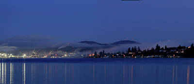 Photograph - Blue Hour Beauty With Fog by E Faithe Lester