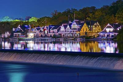 Photograph - Blue Hour Boathouse Row by Frozen in Time Fine Art Photography