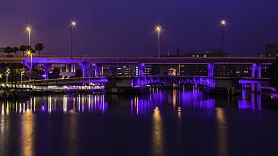 Photograph - Blue Hour Bridge by Paula Porterfield-Izzo