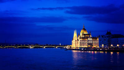 Photograph - Blue Hour Budapest by Heather Applegate