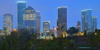 Photograph - Blue Hour Houston by Frozen in Time Fine Art Photography