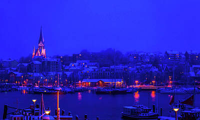 Photograph - Blue Hour In Flensburg by Jordan Holliday