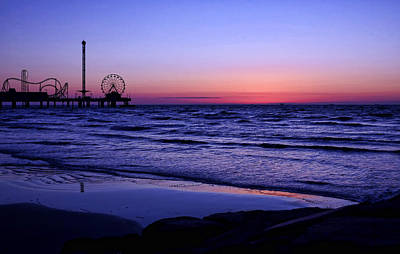 Photograph - Blue Hour In Galveston by Judy Vincent