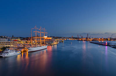 Photograph - Blue hour in Gothenburg by Marco Calandra