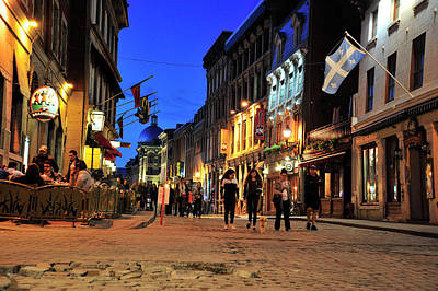 Photograph - blue hour in Old Montreal by Dennis Ludlow