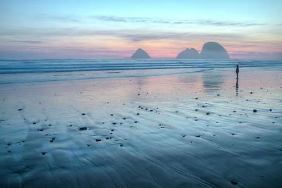 Coastal Landscape Photograph - Blue Hour by Kristina Rinell