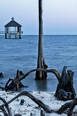 Photograph - Blue Hour On Lake Pontchartrain by Kay Brewer
