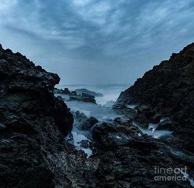 Photograph - Blue Hour On The Mendocino Coast by Along The Trail