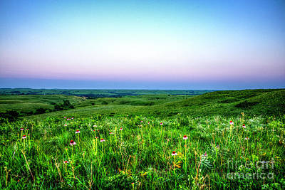 Photograph - Blue Hour On The Plains by Jean Hutchison