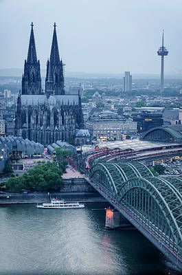 Photograph - Blue Hour Over Cologne by Pablo Lopez