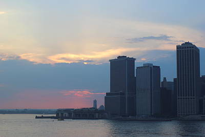 Photograph - Blue Hour Over New York Harbor by Dora Sofia Caputo Photographic Design and Fine Art