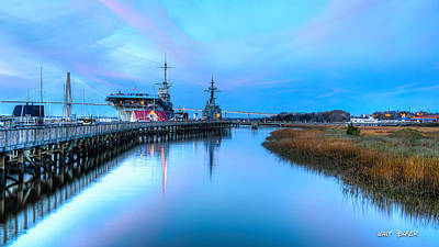 Photograph - Blue Hour Over Patriots Point by Walt Baker