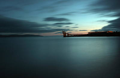 Photograph - Blue Hour Salthill by Peter Skelton