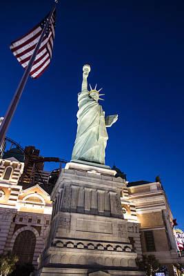 Photograph - Blue Hour Statue Of Liberty Vegas by John McGraw