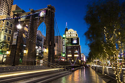 Photograph - Blue Hour Vegas Ny Ny by John McGraw