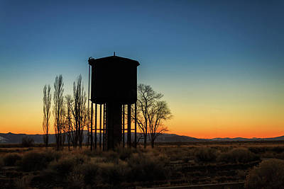 Photograph - Blue Hour Water Tank by James Eddy