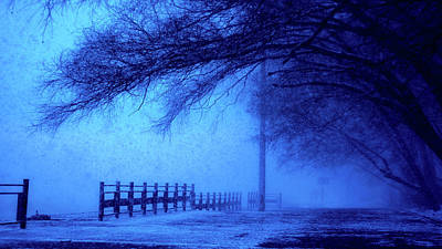 Photograph - Blue Hour Winter - Moscow by Khusen Rustamov