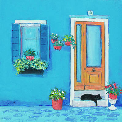Painting - Blue House In Burano Venice by Jan Matson
