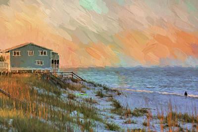 Painting - Blue House On The Beach by Jai Johnson