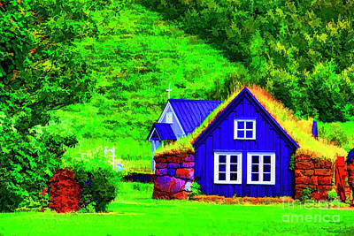 Photograph - Blue House by Rick Bragan