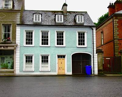 Photograph - Blue House With A Yellow Door by Stephanie Moore