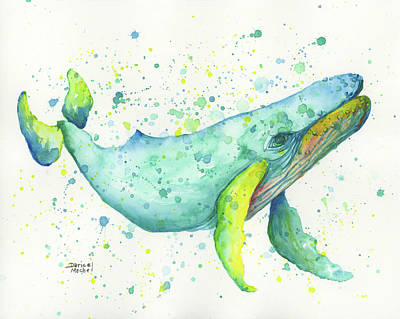 Painting - Blue Humpback by Darice Machel McGuire